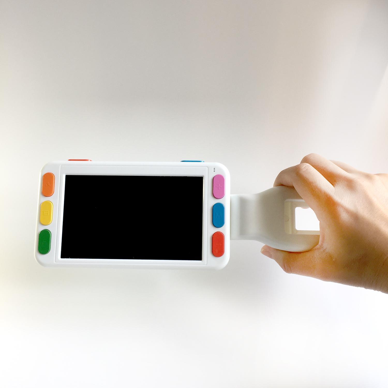 新款5寸高清便攜式電子助視器 遠近兩用放大鏡 4