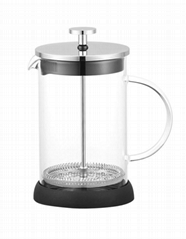 BX702 Zhejiang High quality Borosolicate glass French press, Coffee & Tea maker