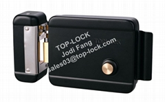 Electric Lock Yale Electronic Rim Lock with Black Color Sigle Cylider