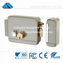 Electric Lock Door  Electronic Rim Lock with Double Cylinder
