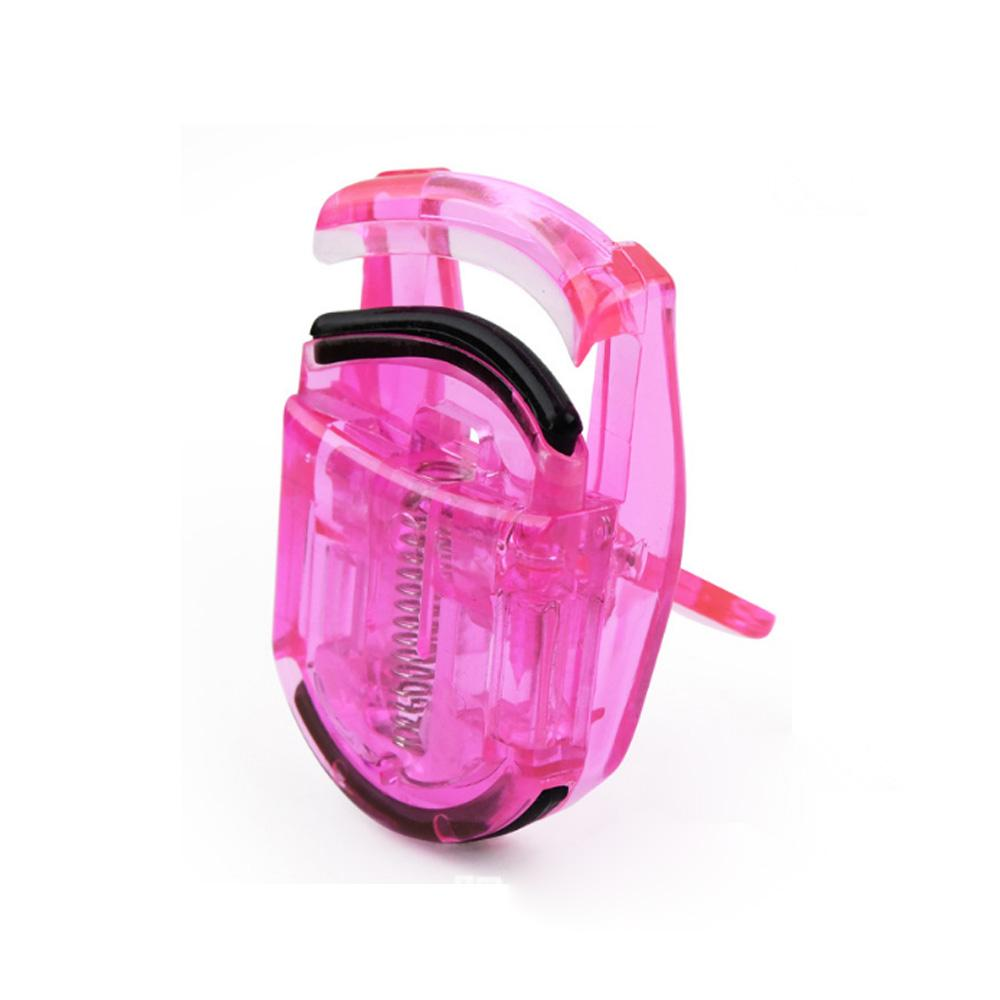 Wholesale Beauty Colorful Makeup Mini Plastic Eyelash Curler 2