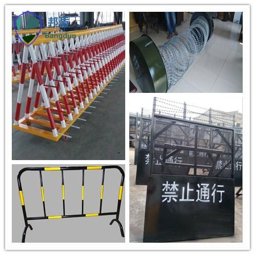 广西1.35米警蓝色三圈反恐防暴封控阻隔网 2