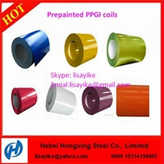 PPGI Coils Color Coated Steel Coil RAL9002 White Prepainted Galvanized