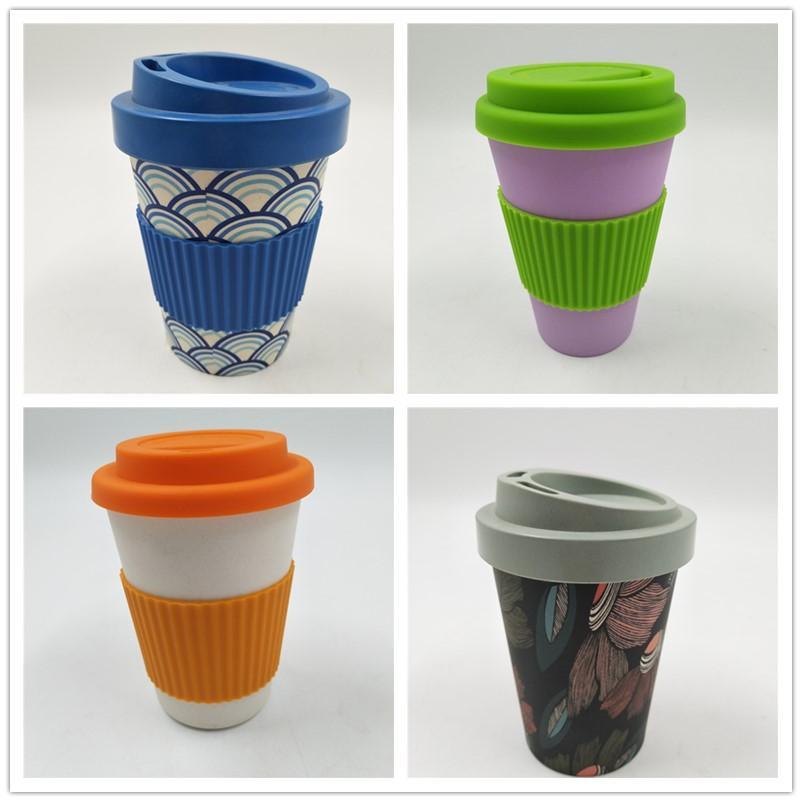 Eco friendly custom design bamboo fiber mug  2