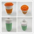 Eco friendly custom design bamboo fiber mug  3