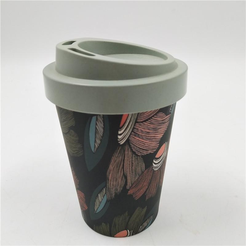 Eco friendly custom design bamboo fiber mug  4