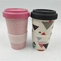 Eco friendly custom design bamboo fiber mug  5