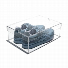 Custom Clear transparent Sneaker Display Acrylic Shoe Box for supper store