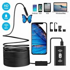 Newest Waterproof IP68 8pcs Led light 1200P USB inspection Wifi Endoscope Camera