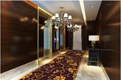 Luxury Fireproof Wool Hotel Axminster Carpet For lift