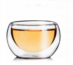 Wholesale Factory Price Amazon Custom logo 50ml Handmade Kungfu Pyrex Glass