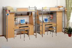 Wooden School Dormitary Bed Furniture Bedroom Set 1