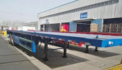 20ft 40ft Container Flatbed Trailer 2 Axles Flat Bed Trailer