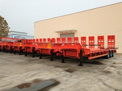 3 Alxes 80 Tons Low Bed Trailer to West Africa
