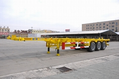 45ft 40ft Skeleton Trailer for Containers Transportation