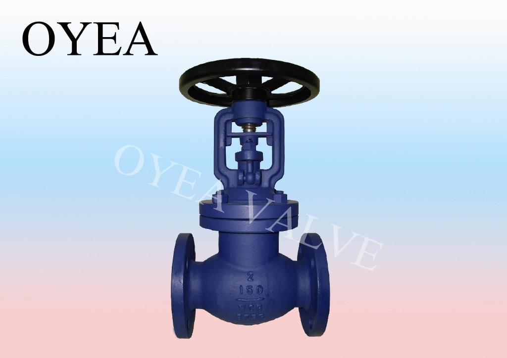 ANSI API DIN Cast Iron Cast Steel Bellow Sealed Globe Valve 1