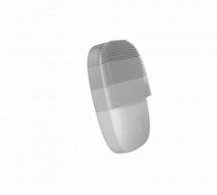 USB充电防水硅胶声波洁面仪灰色