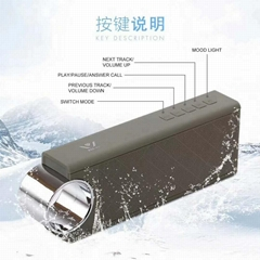 Power bank waterproof bluetooth spekaer with TWS function