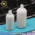 Luxury Cylinder Milk White Opal Glass