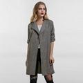 Women Coats Fashion Solid Outerwear Casual Lapel Windbreaker Cape Coats 3