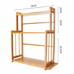 3 Tiers Bamboo Wood Spice Rack