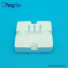 PH High Quality (Square Shape) Dental Honeycomb Firing Tray (with ceramic pins)