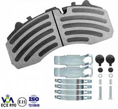 truck disc brake pad WVA 29108 29087 for DAF IVECO MERCEDES BENZ MAN SCANIA