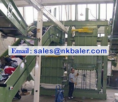 Used Clothes two chambers Baling Machine