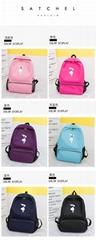 printed bird backpack fashionable waterproof junior high school unsex backpack