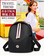 wholesale simple fashion ladies waterproof polyester students daily backpack