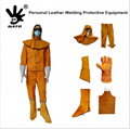 Long Split Cowhide Leather Safety Welding Sleeves with Welder Protection Leather 2