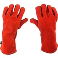Red Cow Split Working Gloves Double Palm Heat Resistant Welding Safety Gloves wi 4