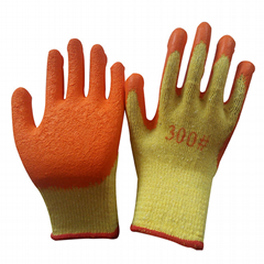 10Gauge Cotton Latex Coated Working Gloves