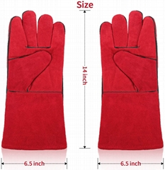 Excellent Cowhide MIG welding gloves