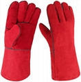 Excellent Cowhide MIG welding gloves 3