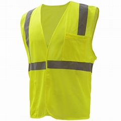 high visibility apparel clothing Class II Mesh polyester mesh Safety Vest