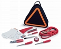 11-pieces DH801 Car Roadside Emergency Kit with unique triangular-shaped bag 1