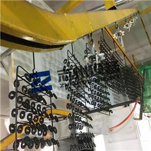 五金鎖具自動噴塑烘道流水線 門鎖自動噴塗線 1