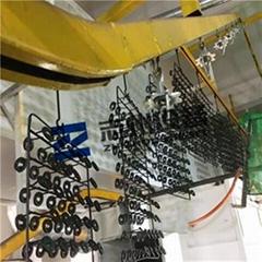 五金鎖具自動噴塑烘道流水線 門鎖自動噴塗線