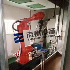 展具機器手噴塗流水線 懸挂式機器人噴漆生產線