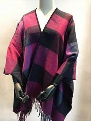 acrylic doubleface woven poncho