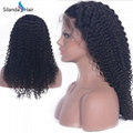 Curly Remy Brazilian Human Hair #1B