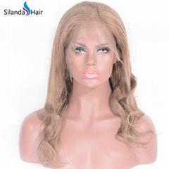 Body Wave #8 Brazilian Remy Human Hair Handmade Full Lace Wigs