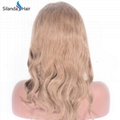 Body Wave #8 Brazilian Remy Human Hair Handmade Full Lace Wigs 5