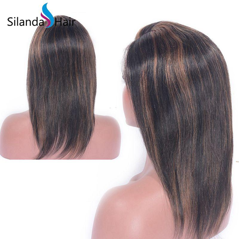Lace Frontal Wigs Straight #1B-30 10 inch Human Hair Wigs 5