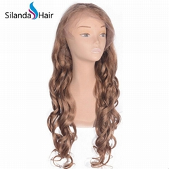 #27 Loose Wave Brazilian Remy Human Hair Lace Frontal Wig
