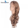 #27 Loose Wave Brazilian Remy Human Hair Lace Frontal Wig 2