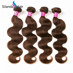 #4 Brazilian Remy Human Hair Weave Bundles 3pcs Hair Wavy Weft