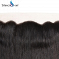 "Pure 100% Brazilian Virgin Remy Human Hair 13""X4"" Lace Closure #1B Straight 2"