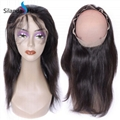 Brazilian Virgin Remy 100% Human Hair 360 Lace Closure #1B Natural Wave 1